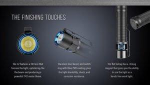 Olight 950 Lumens S2 Baton Cree XM-L2