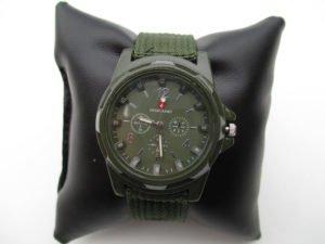Swiss Army Men's Green Fabric Strap Watch