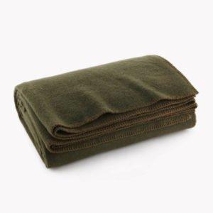 Olive Drab Green Warm Wool Blanket