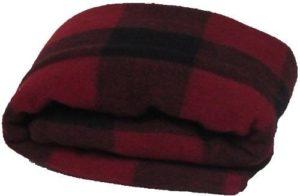 Super Soft and Warm Wool Red/Black Plaid Blanket