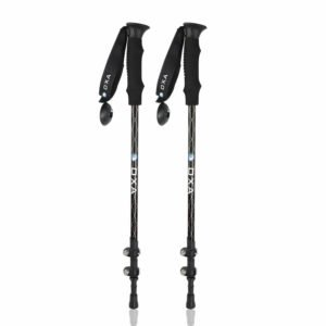 OXA 50% Carbon Fiber Quick Lock Anti Shock WalkingTrekking Hiking Poles